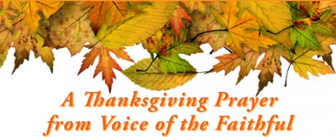 A Thankdgiving Prayer from Voice of the Faithful