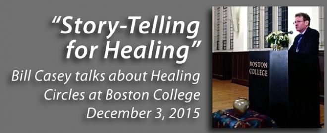 VOTF's Bill Casey talks about Healing Circles at Boston College